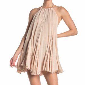 Free People Catching Rays Halter Mini Dress